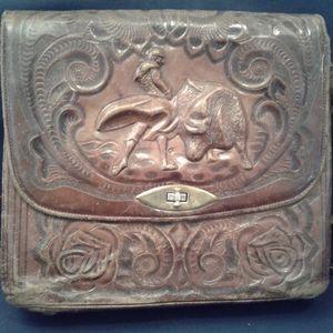 Handbags - Vintage Tooled Leather Shoulder Bag
